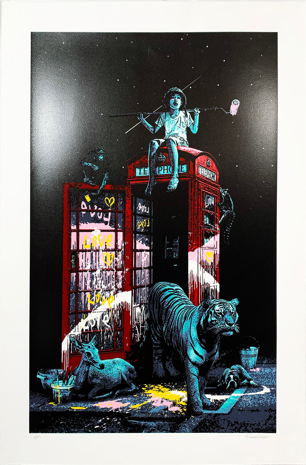 ROAMCOUCH 'London Calling' Screen Print - Signari Gallery
