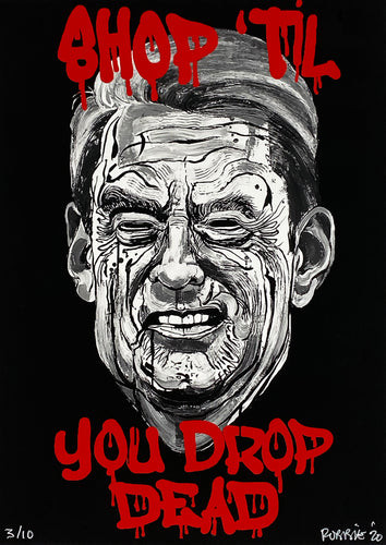 ROBBIE CONAL 'Shop Till You Drop--Dead' Archival Pigment Print