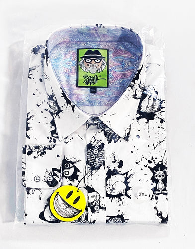 RON ENGLISH 'Pop Life' Button-Down Shirt (Apparel)
