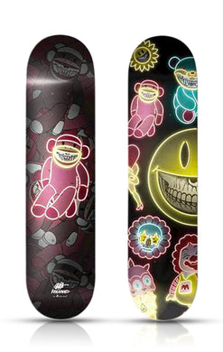RON ENGLISH 'Sock Monkey Grin' Skateboard Deck
