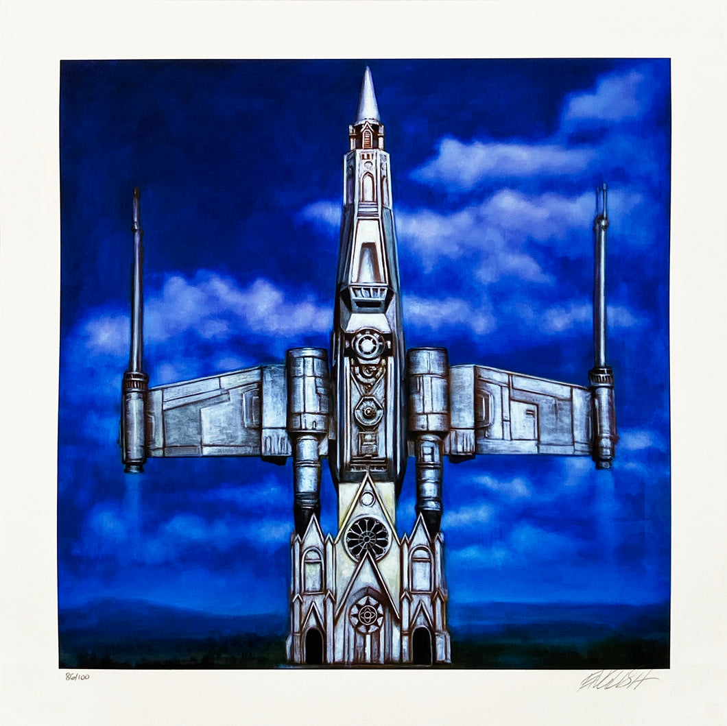 RON ENGLISH 'Church of Star Wars' Archival Pigment Print