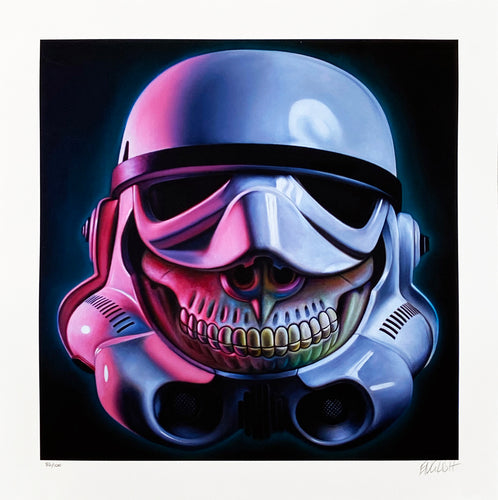 RON ENGLISH 'Stormtrooper Grin' Archival Pigment Print