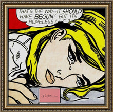 Load image into Gallery viewer, ROY LICHTENSTEIN 'Hopeless' Screen Print + Original Signature Framed - Signari Gallery