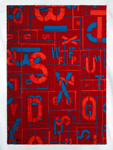 Load image into Gallery viewer, SEEN 'Letters' (red) Giclee Print - Signari Gallery