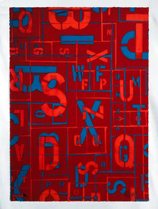 SEEN 'Letters' (red) Giclee Print - Signari Gallery