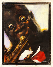Load image into Gallery viewer, SEBASTIAN KRUGER 'Satchmo' Giclee on Canvas - Signari Gallery