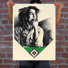 Load image into Gallery viewer, SHEPARD FAIREY 'Catch a Fire' (green) Screen Print