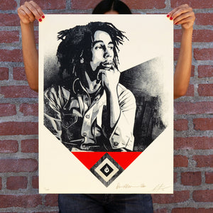 SHEPARD FAIREY 'Catch a Fire' (red) Screen Print