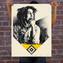 Load image into Gallery viewer, SHEPARD FAIREY 'Catch a Fire' (yellow) Screen Print