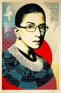 SHEPARD FAIREY 'Champion of Justice (RBG)' Screen Print (281)
