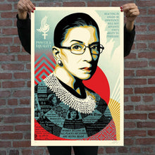 Load image into Gallery viewer, SHEPARD FAIREY 'Champion of Justice (RBG)' Screen Print (281)