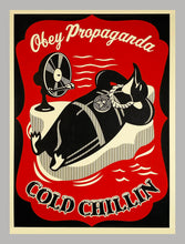 Load image into Gallery viewer, SHEPARD FAIREY 'Cold Chillin'' (red) Paster Print