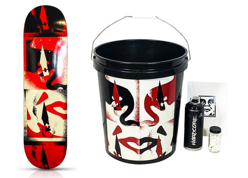 SHEPARD FAIREY x BTS 'Cut it Up' Skateboard/Bucket Set