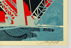 SHEPARD FAIREY 'Fossil Factory' Screen Print