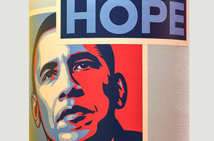SHEPARD FAIREY 'Hope' (Obama) 4x6 In. Sticker