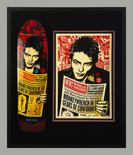 Load image into Gallery viewer, SHEPARD FAIREY 'Jello Biafra' Screen Print + Skateboard Deck Framed
