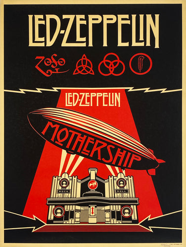 SHEPARD FAIREY 'Led Zeppelin: Mothership' Screen Print