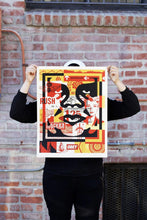 Load image into Gallery viewer, SHEPARD FAIREY 'Obey 3-Face Collage' Lithograph SET - Signari Gallery