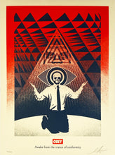 Load image into Gallery viewer, SHEPARD FAIREY 'Obey Conformity Trance' (red) Screen Print