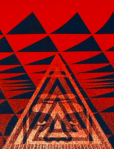 SHEPARD FAIREY 'Obey Conformity Trance' (red) Screen Print