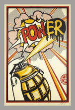 Load image into Gallery viewer, SHEPARD FAIREY 'POW(ER)' Screen Print