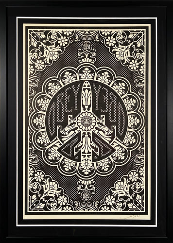 SHEPARD FAIREY 'Peace Bomber' Offset Lithograph Framed