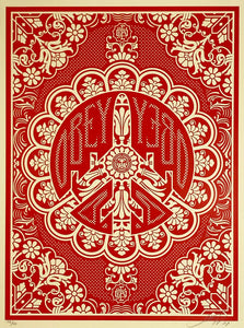 SHEPARD FAIREY 'Peace Bomber' (red) Screen Print