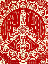 Load image into Gallery viewer, SHEPARD FAIREY 'Peace Bomber' (red) Screen Print