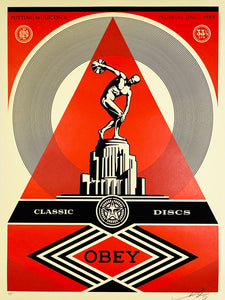 SHEPARD FAIREY 'Pedestal' Screen Print