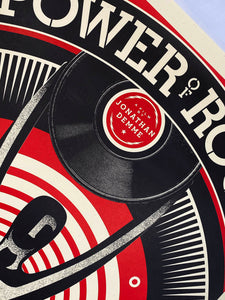 SHEPARD FAIREY 'The Power of Rock' Offset Lithograph