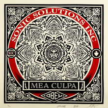 Load image into Gallery viewer, SHEPARD FAIREY x SSI 'Mea Culpa' Serigraph Print