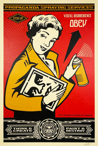 SHEPARD FAIREY 'OBEY: Stay Up Girl' Lithograph Print