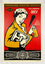 Load image into Gallery viewer, SHEPARD FAIREY 'OBEY: Stay Up Girl' Lithograph Print