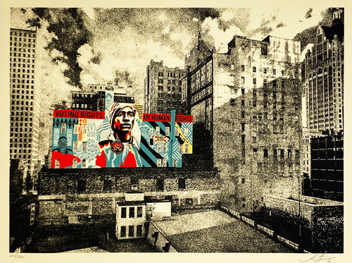SHEPARD FAIREY 'Voting Rights Are Human Rights (MKE Mural)' Screen Print