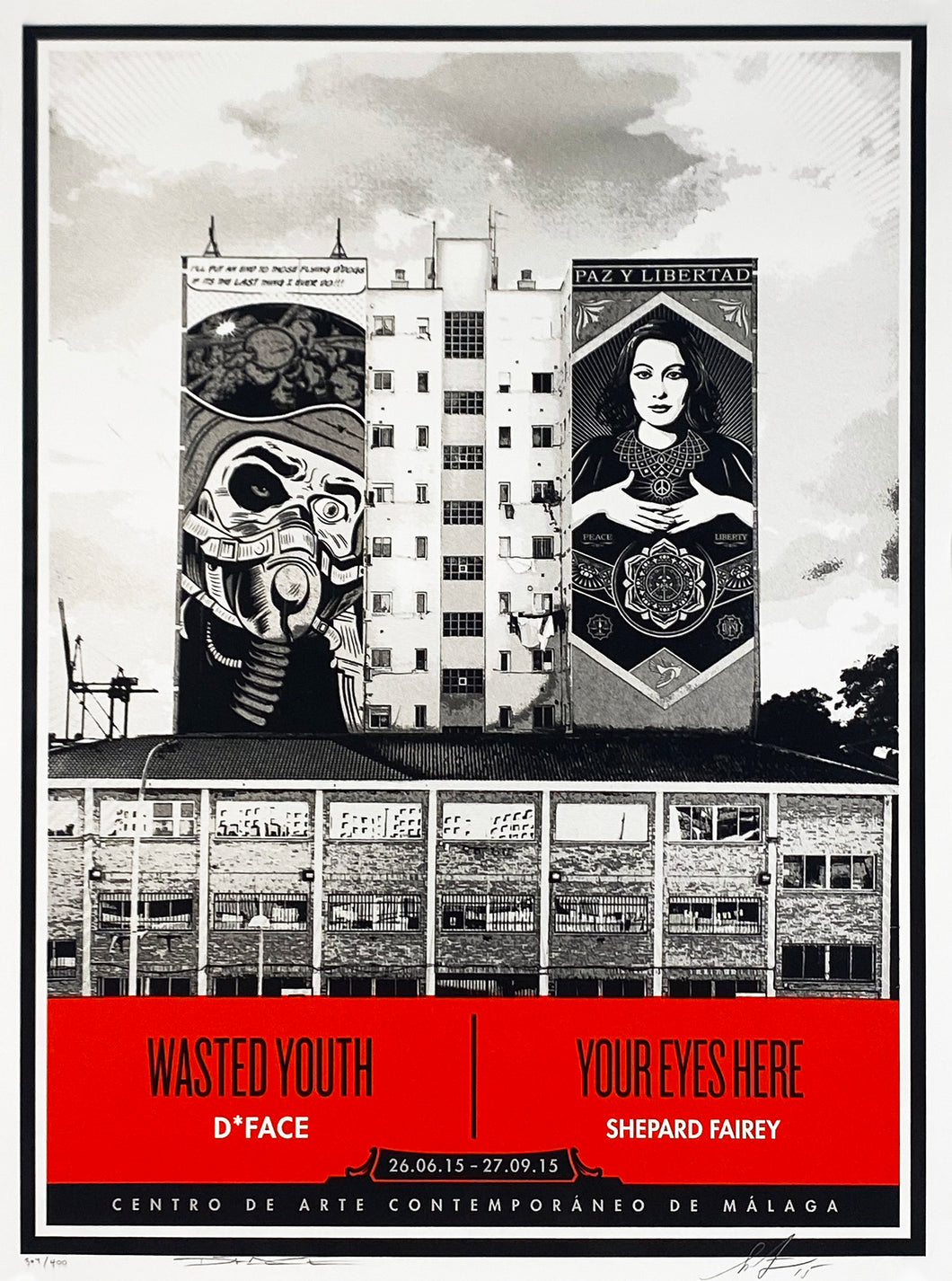 SHEPARD FAIREY x D*FACE 'Wasted Youth/Your Eyes Here' Screen Print