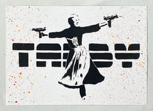 Load image into Gallery viewer, TABBY 'Sound of Uzi' Original Spray/Stencil on Paper