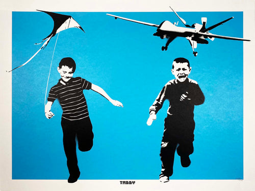 TABBY 'The Wonder Years' (blue) Screen Print - Signari Gallery