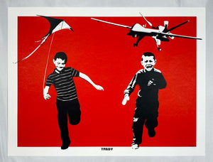 TABBY 'The Wonder Years' (RARE red) Screen Print - Signari Gallery