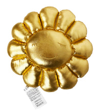 Load image into Gallery viewer, TAKASHI MURAKAMI x Kaikai Kiki 'Flowers' (gold) Plush Cushion