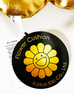 TAKASHI MURAKAMI x Kaikai Kiki 'Flowers' (gold) Plush Cushion