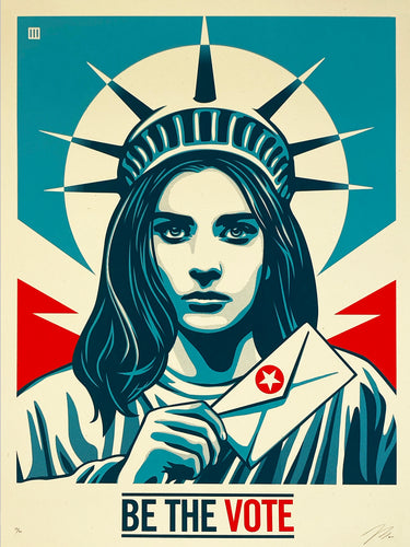 THOMAS WIMBERLY 'Be the Vote' Screen Print