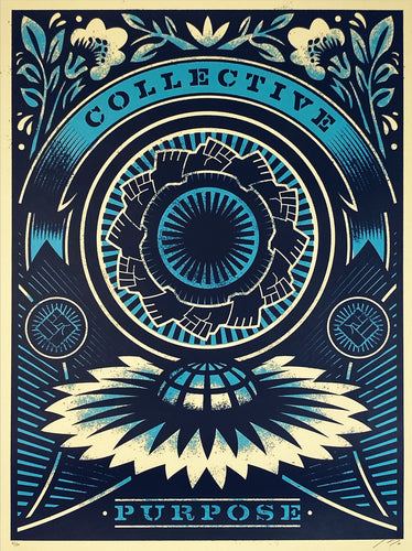 THOMAS WIMBERLY 'Power of a Collective' (blue) Screen Print
