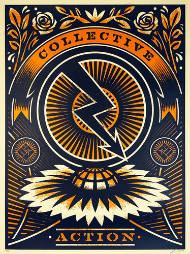 THOMAS WIMBERLY 'Power of a Collective' (orange) Screen Print