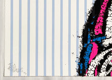 Load image into Gallery viewer, TILT 'Coke' (blue lines) Screen Print - Signari Gallery