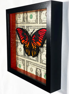 TRUTEAU 'Nature is Business' Hand-Painted Framed Sculpture