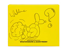 Load image into Gallery viewer, WHATSHISNAME x JASON FREENY 'Dissected POPek' (yellow) SIGNED Balloon Dog Figure
