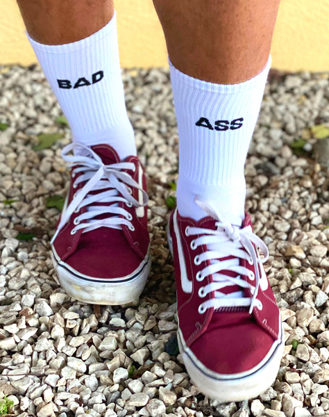 Chaussettes blanches Bad Ass