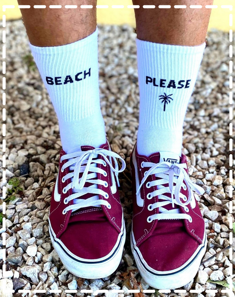 Chaussettes blanches Beach Please