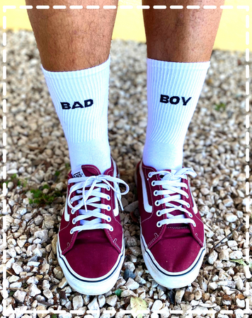 Chaussettes blanches Bad Boy