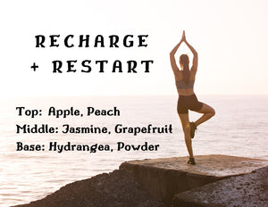 Recharge + Restart Candle - Jasmine + Peach